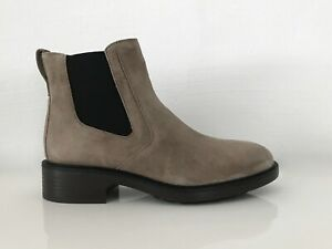 Hogan By TOD'S Women's Shoes Ankle Boots Chelsea Gray-Brown Eu:40 New /