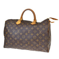 Auth LOUIS VUITTON Speedy 35 Travel Hand Bag Monogram Leather M41524 80BQ178