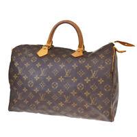 Auth LOUIS VUITTON Speedy 35 Travel Hand Bag Monogram Leather M41524 80BQ178