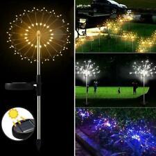 70cm 120LED Garden Path Lights Solar Power Firework Starburst Lamps Lights G3V9