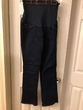 size Medium Maternity Dark Wash Brand Indigo Blue Premium Denim