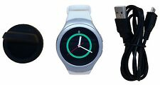 Samsung Galaxy Gear S2 Sport Smart Watch SM-R730T White Silver T-Mobile 4G