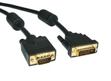 2M DVI-I MALE TO VGA SVGA MALE CABLE TV PC CONVERTER INPUT ADAPTOR LEAD 2 METRE