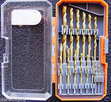 New 15 Piece Drilling Bit Set Twist Drills in Case Holder High Quality HDX Brand
