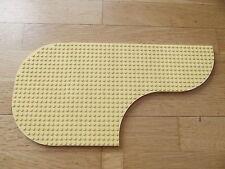 Lego Light Yellow Brick Round Corner 12 x 12 Baseboard 6162 6161 Quarter Circle