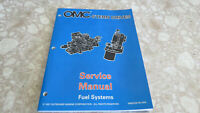 """OEM OMC Stern Drives """"BY"""" Fuel Systems P/N 501201 Service Manual Used"""