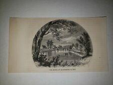 Bladensburg Maryland Bridge 1864 Hw Sketch Print Rare!