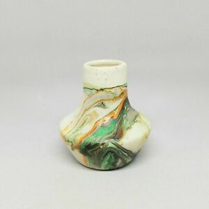 "Nemadji Indian Pottery Vase with ""Native Clay USA"" Brand Marking Inside Glazed"