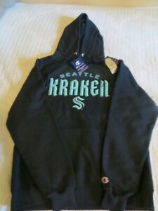 NWT Champion Seattle Kraken Blue Hoodie, men's size L