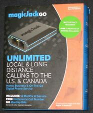 MagicJackGO Home + Business & On-The-Go Digital Phone Service ~ Open Box