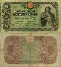 50 LIRE 1906 BANCO DI NAPOLI BIGLIETTO AL PORTATORE