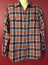 IZOD Men's Orangeade Plaid Button Up Shirt - Size Small - NWT $64