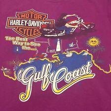 Vintage Harley Davidson T-shirt Motorcycle Biker Soft Medium West Gulf Coast