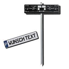 Einschlagpfosten für Parkplatzschilder, Kennzeichen Befestigung Wunschtext