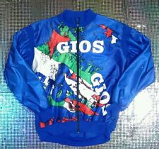 VINTAGE TEAM GIOS MAGLIA CICLISTA invernale TG L Fantasia FLUO MADE IN ITALY