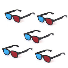 5 x Adults 3D Glasses Red Blue Anaglyph for 3D Movie Game DVD Black Frame