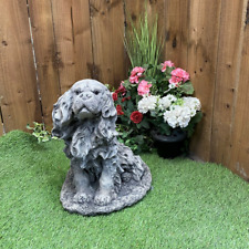 More details for stone cast king charles spaniel ornament