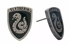 Harry Potter SLYTHERIN Crest Metal Enamel Post Stud Earrings