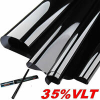 "20""X10FT Vlt 35% Uncut Roll Window Tint Film Charcoal Black Car Glass Office"