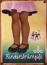 Original KONSUM Plakat Österreich - GÖC Kinderstrümpfe, Werbeplakat, Reklame