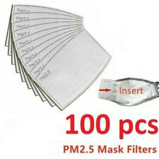 🌟 100Pcs Of Pm2.5 Filter Carbon Breathing Insert Protective Pad Gasket 🌟