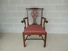 Henkel Harris Chippendale Style Mahogany Arm Chair Model 102A Finish #29