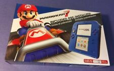 Nintendo 2DS Electric Blue 2 Limited Edition Bundle W/ Mario Kart 7 NEW