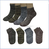 New 6 12 Pairs Mens Cotton Multi Color Low Cut Ankle Socks Fashion Size 9-13