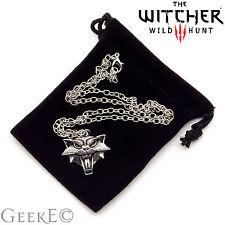 The witcher 3 wild hunt cat médaillon collier avec sac-uk stock