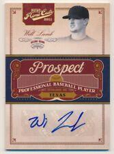 2011 Prime Cuts Prospect Signatures Gold #WL Will Lamb Autograph /49
