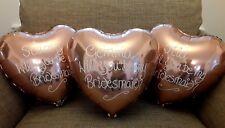 Wedding  Balloons - Bridesmaid Personalised Foils - Will you be my Bridesmaid