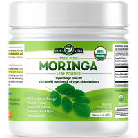 ORGANIC MORINGA Powder - USDA Certified Organic - Premium Single Origin 8oz.