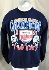 e94d2a12e12 Vintage 1991 Minnesota Twins AL Champions (XL) Retro Graphic MLB Sweatshirt  Blue