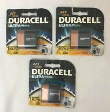 DURACELL ULTRA Lithium Photo 223 BATTERIES 6 Volt Mar 2021 LOT of 3 NEW