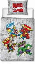 Marvel Comics Junior Retro Design Duvet Cover Set, Polyester-Cotton
