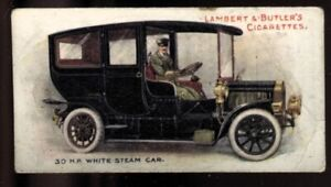 Tobacco Card, Lambert Butler, MOTORS, 1908, 30hp White Steam Car, #15