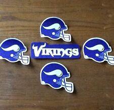 Minnesota Vikings Fabric Iron On Football Patch Set