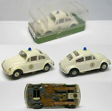 1960s Faller Germany VW Volkswagon POLIZEI POLICE BUG H.O. Slot Car Incredible!