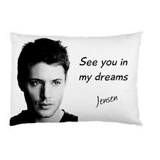JENSEN ACKLES DEAN WINCHESTER See you in my dreams bed pillow case 94873784