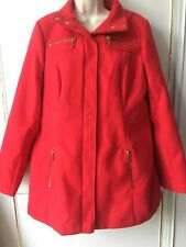 George Ladies Red Coat Size 14 Washable Casual Smart Work Wedding Party Winter