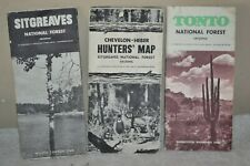 Arizona Vintage National Forest Maps, Sitgreaves, & Tonto