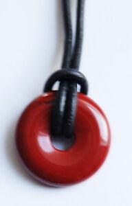 Edelstein-Anhänger, Jaspis rot, Donut rund, Ø 20 mm
