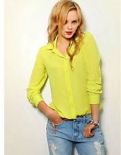 Women's Fashion New Lady OL Chiffon Blouse Tops Long sleeve Shirt Casual Tops