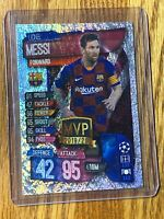 2019-20 Topps LIONEL MESSI Match Attax Silver Pulsar MVP SP Soccer Card 🔥⚽️