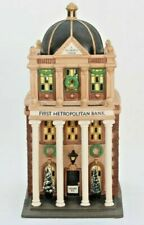 Department 56 Christmas in the City First Metropolitan Bank 58823 -Used w/sleeve