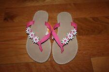 NWT Gymboree Daisy Park Size 11 Pink Flower Flip Flops Sandals Shoes