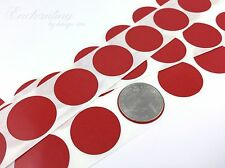 """100 - Scratch Off Labels 1"""" Round Red Stickers (25.4mm)"""