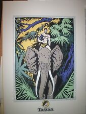 BURNE HOGARTH SERIGRAPHIE TARZAN ARCHIVES INTERNATIONALES 50 X 70 NEUF