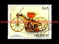 Gottlieb DAIMLER Wilhelm MAYBACH 1885 - PARAGUAY : Timbre Poste Moto Stamp