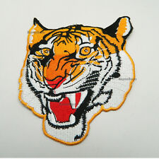New Tiger Patch Embroidered Patch The Roaring Tiger Face Badge Sew On Patch-5""